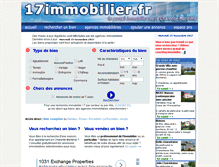 Tablet Preview of 17immobilier.fr